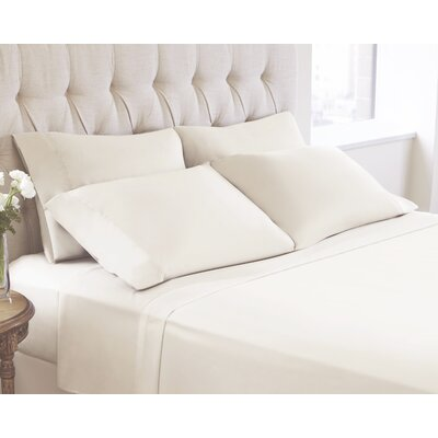 6 Piece Sheet Set Color: Whisper, Size: King