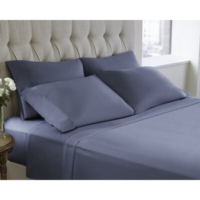 6 Piece Sheet Set Size: King, Color: Faded Denim