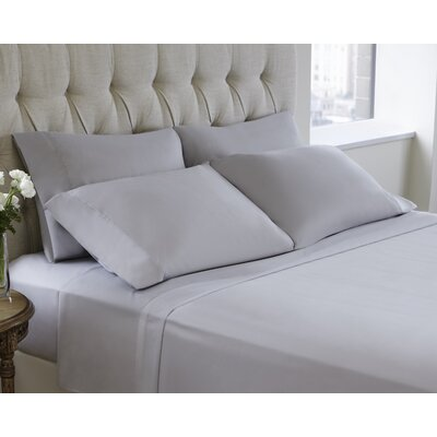 6 Piece Sheet Set Size: King, Color: Pale Gray