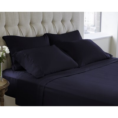 6 Piece Sheet Set Color: Navy Blazer, Size: King