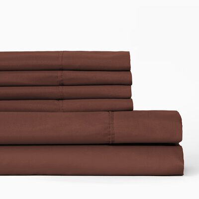 6 Piece Sheet Set Color: Marsala, Size: King