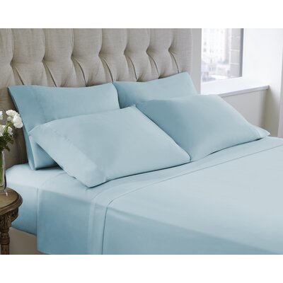 6 Piece Sheet Set Color: Nile Blue, Size: King