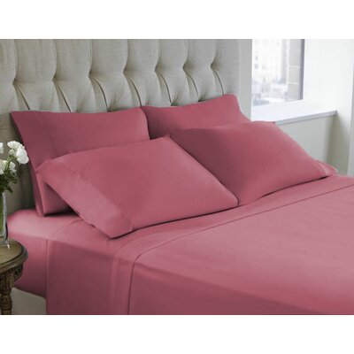 6 Piece Sheet Set Size: Queen, Color: Mellow Mauve