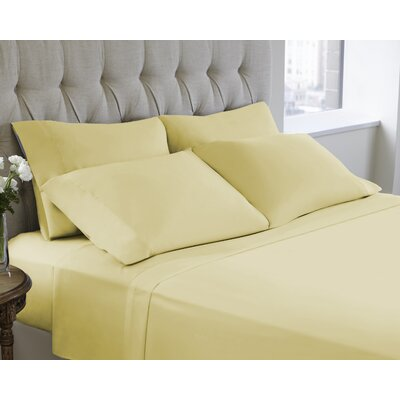 6 Piece Sheet Set Size: Queen, Color: Chamomile