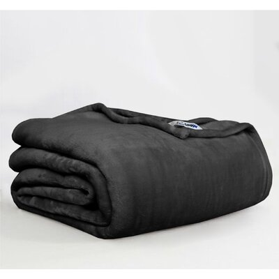 Throw Blanket Size: Twin, Color: Black