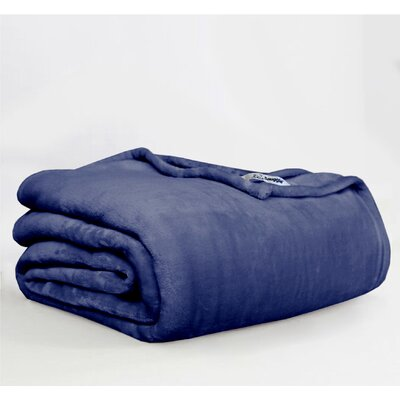 Throw Blanket Size: Twin, Color: Navy