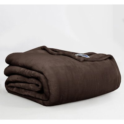 Throw Blanket Size: Twin, Color: Chocolate