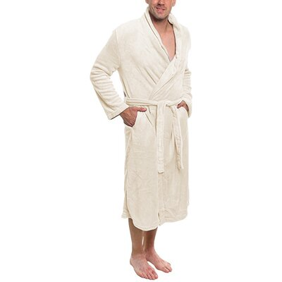 Super Plush Ultra Lux Bathrobe Color: Whisper