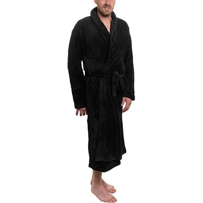 Super Plush Ultra Lux Bathrobe Color: Black