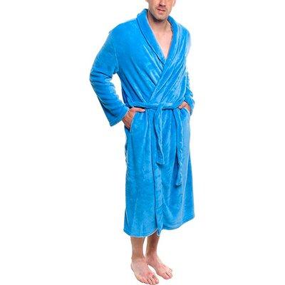Super Plush Ultra Lux Bathrobe Color: Denim Blue