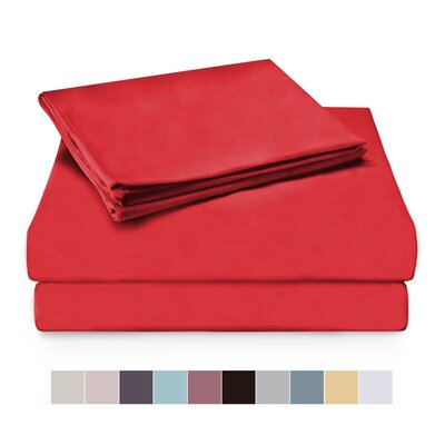 Sheet Set Color: Red, Size: Full