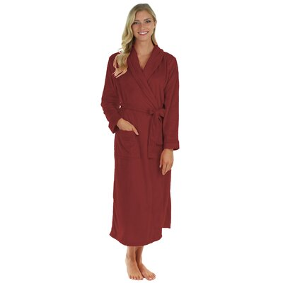 Super Plush Ultra Lux Bathrobe Color: Berry