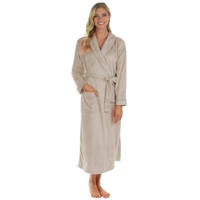 Super Plush Ultra Lux Bathrobe Color: Sand