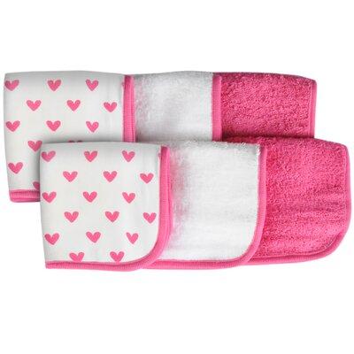 Heart 6 Piece Washcloth Set
