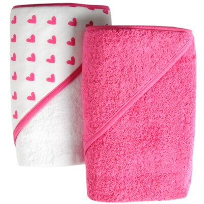 Heart 2 Piece Hooded Towel Set