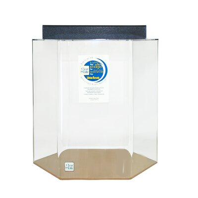 Hexagon Acrylic Aquarium Tank Color: Clear, Size: 20 H x 21 W x 18 D