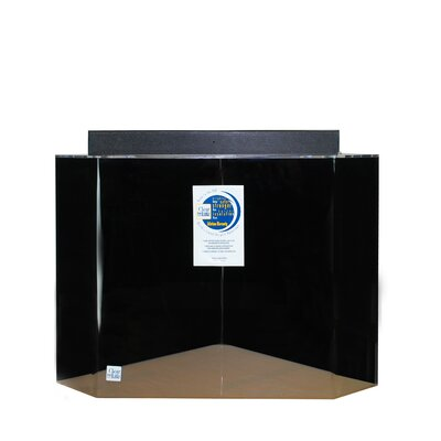 Mullin Pentagon Acrylic Aquarium Tank Color: Black, Size: 30 H x 36 W x 36 D