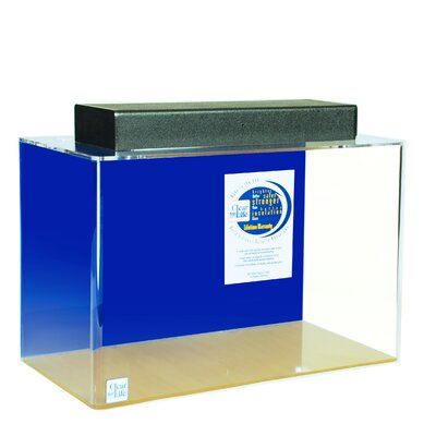 Mulligan Rectangle Acrylic Aquarium Tank Color: Sapphire Blue, Size: 30 H x 72 W x 18 D