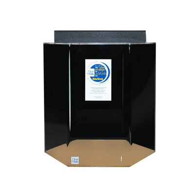 Hexagon Acrylic Aquarium Tank Color: Black, Size: 20 H x 17 W x 15 D