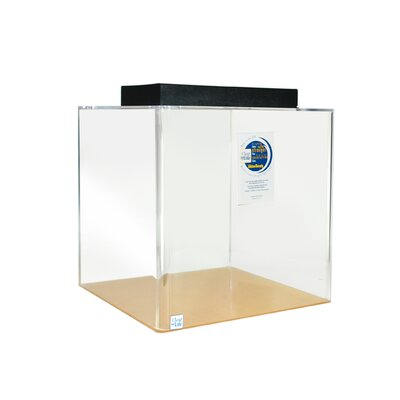 Cube Acrylic Aquarium Tank Color: Clear, Size: 18 H x 18 W x 18 D