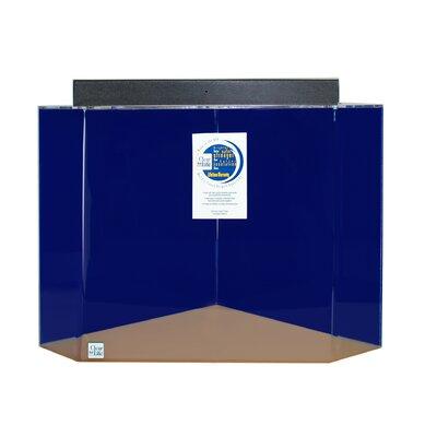 Mullin Pentagon Acrylic Aquarium Tank Color: Sapphire Blue, Size: 30 H x 36 W x 36 D