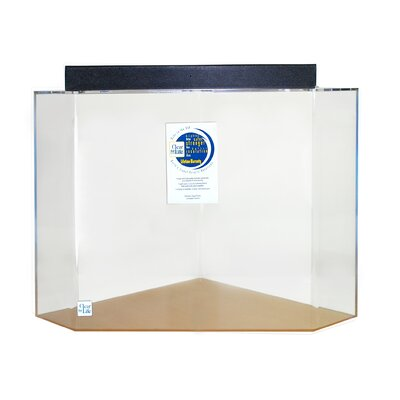 Pentagon Acrylic Aquarium Tank Color: Clear, Size: 30 H x 36 W x 36 D