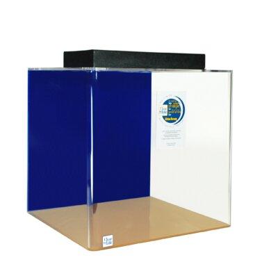 Cube Aquarium Tank Color: Sapphire Blue, Size: 24 H x 24 W x 24 D