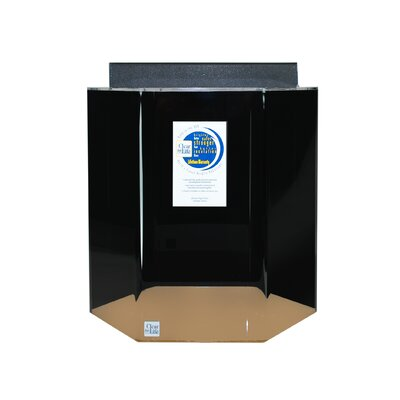 Hexagon Aquarium Tank Color: Black, Size: 30 H x 29 W x 25 D