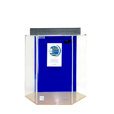 Hexagon Aquarium Tank Color: Sapphire Blue, Size: 30 H x 29 W x 25 D