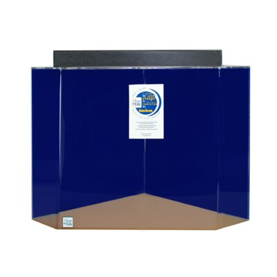 Pentagon Aquarium Tank Color: Sapphire Blue, Size: 30 H x 36 W x 36 D