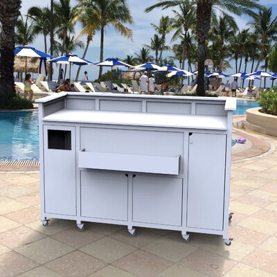 Classic Portable Bar Finish: White