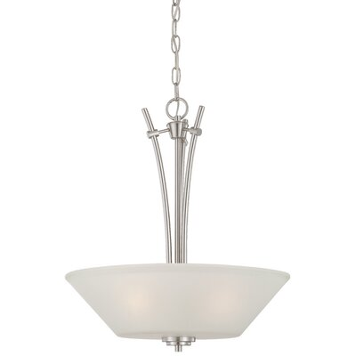 Cana 3-Light Inverted Pendant Finish: Brushed Nickel