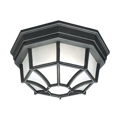 Essentials 1-Light Flush Mount Finish: Black