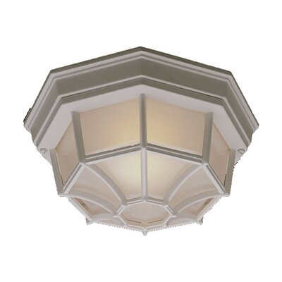 Duckworth 1-Light Flush Mount Finish: Matte White