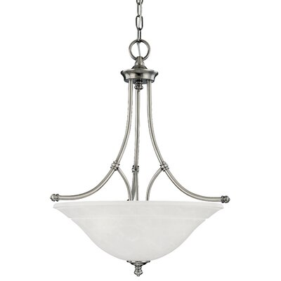 Harmony 3-Light Inverted Pendant Finish: Satin Pewter