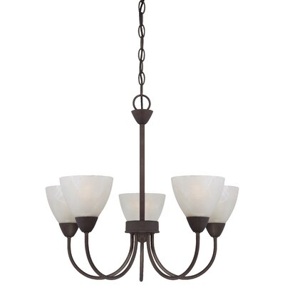 Tia 5-Light Shaded Chandelier