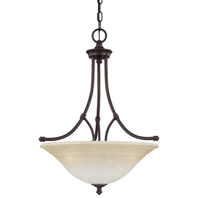 Harmony 3-Light Inverted Pendant Finish: Aged Bronze