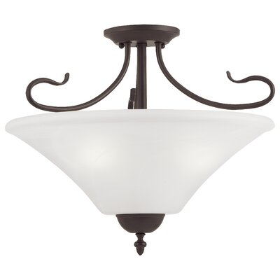 Elipse 3-Light Convertible Pendant / Semi Flush Mo