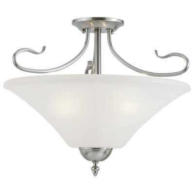 Elipse 3-Light Convertible Pendant or Semi Flush