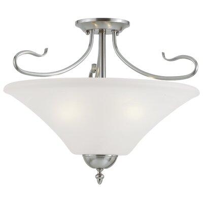 Elipse 3-Light Convertible Pendant or Semi Flush