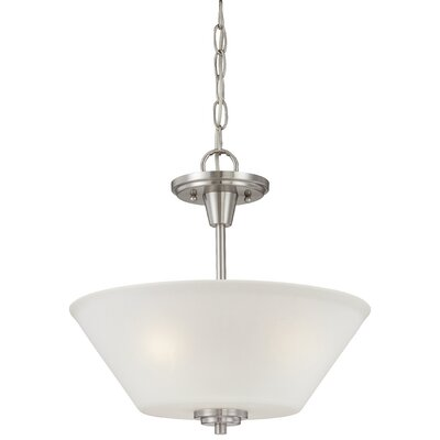 Cana 2-Light Inverted Pendant Finish: Brushed Nickel