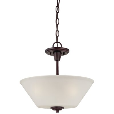 Cana 2-Light Inverted Pendant Finish: Sienna Bronze