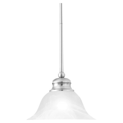 Alabaster 1-Light Bowl Pendant Finish: Brushed Nickel