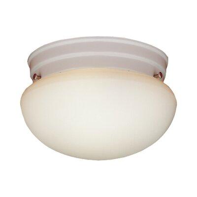 2-Light Glass Shade Flush Mount