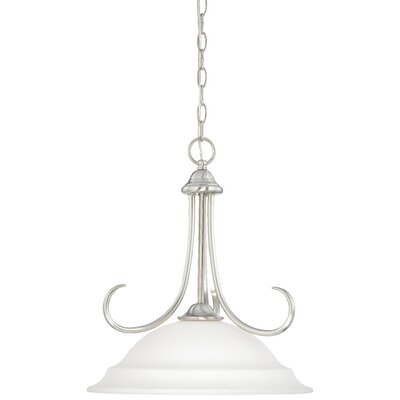 Ripley 1-Light Bowl Pendant Finish: Brushed Nickel
