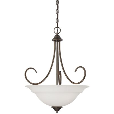 Ripley 3-Light Inverted Pendant Finish: Oiled Bronze