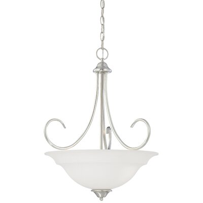 Ripley 3-Light Inverted Pendant Finish: Brushed Nickel