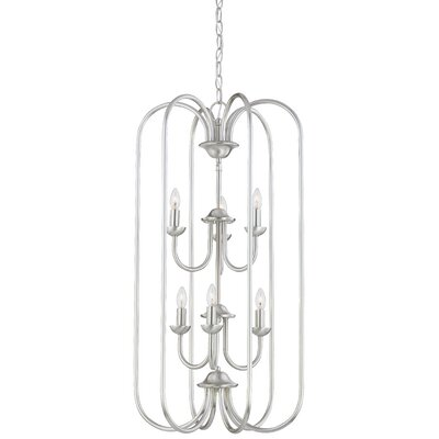 Bella 6-Light Foyer Pendant Finish: Brushed Nickel
