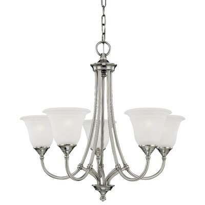 Harmony 5-Light Shaded Chandelier Finish: Satin Pewter
