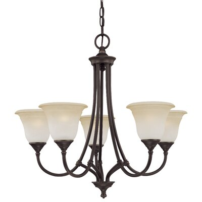 Harmony 5-Light Shaded Chandelier Finish: Aged Bronze